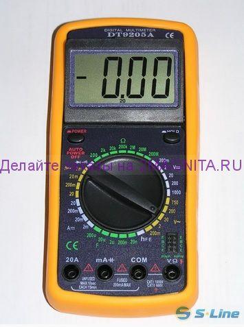 Мультиметр Цифровой Dt9205a Инструкция - фото 7
